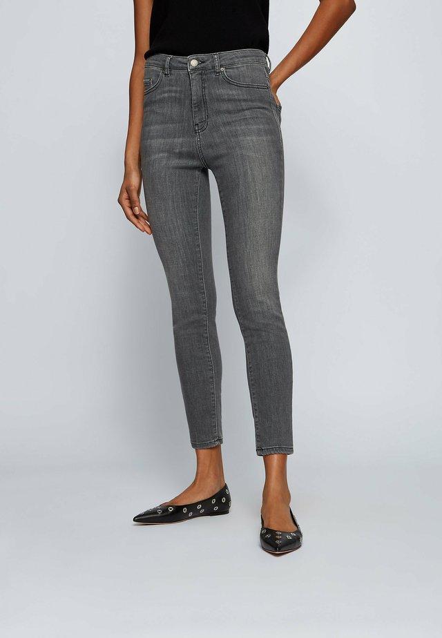 SKINNY CROP - Jeans Skinny Fit - grey