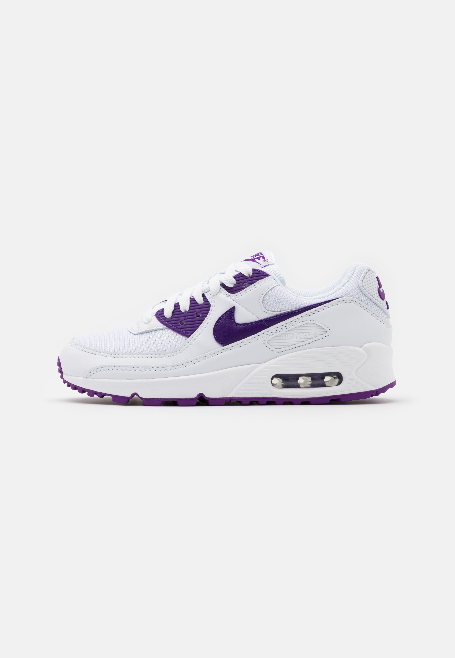 caballo de Troya batería Precioso  Nike Sportswear AIR MAX 90 - Trainers - white/voltage purple/black/white -  Zalando.co.uk