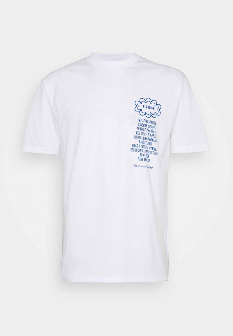 Carhartt WIP - PUBLIC POSSESSION - T-shirt med print - white/blue