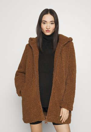 ONLNEW TERRY CURLY COAT  - Cappotto corto - toasted coconut