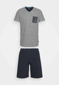 TOM TAILOR - SHORTY V-NECK - Pyjamas - dark blue/white - 0
