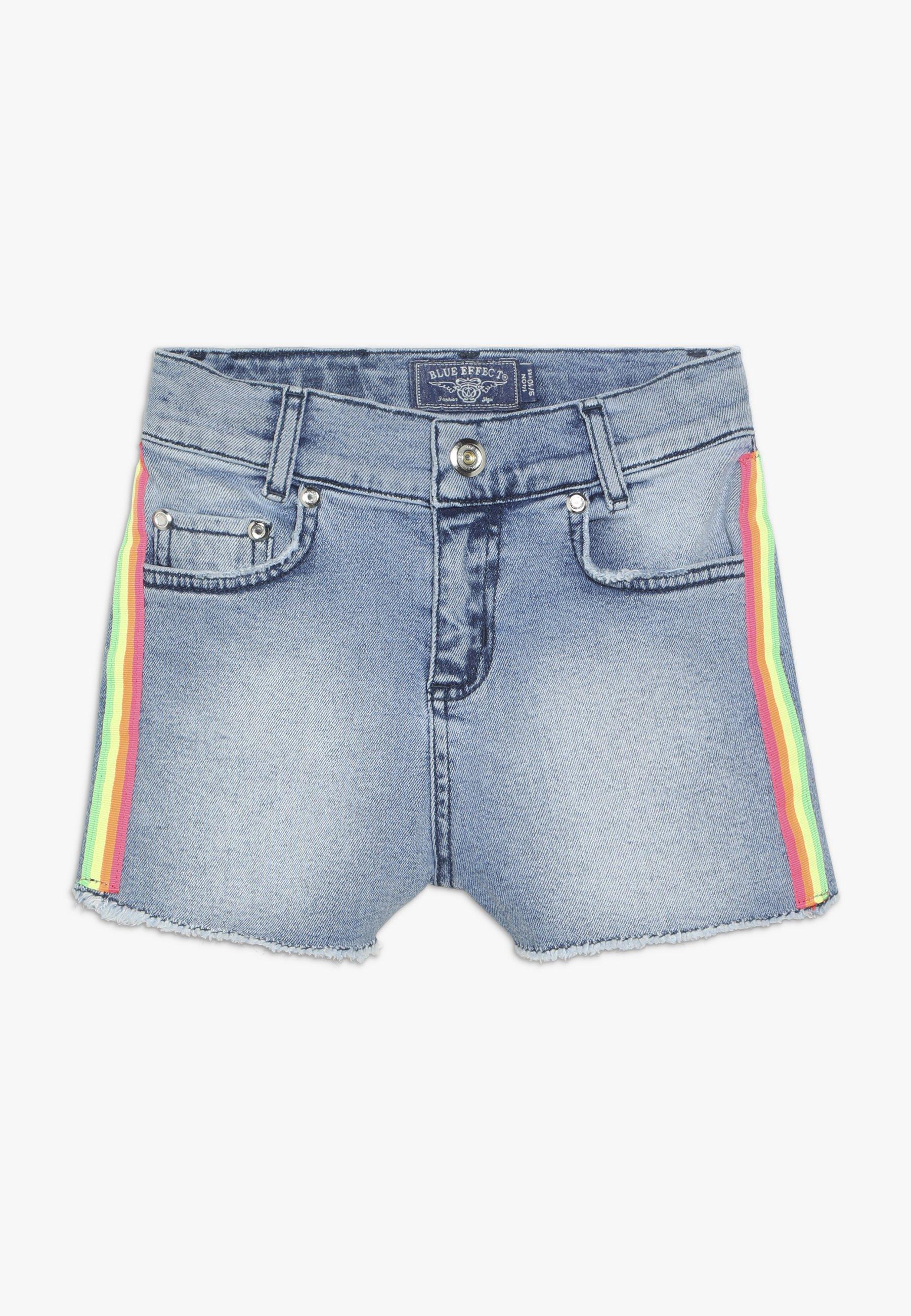 Kinder GIRLS HIGH WAIST STREIFEN - Jeans Shorts