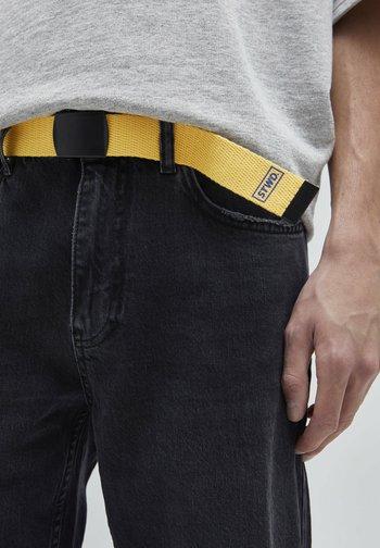 Braided belt - yellow