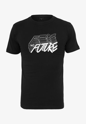 HERREN NO FUTURE TEE - Print T-shirt - black