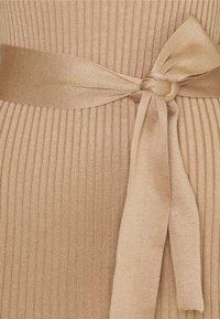 New Look - TIE WAIST MIDI DRESS - Pouzdrové šaty - camel - 2