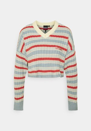 V NECK STRIPE JUMPER - Jumper - multi-coloured