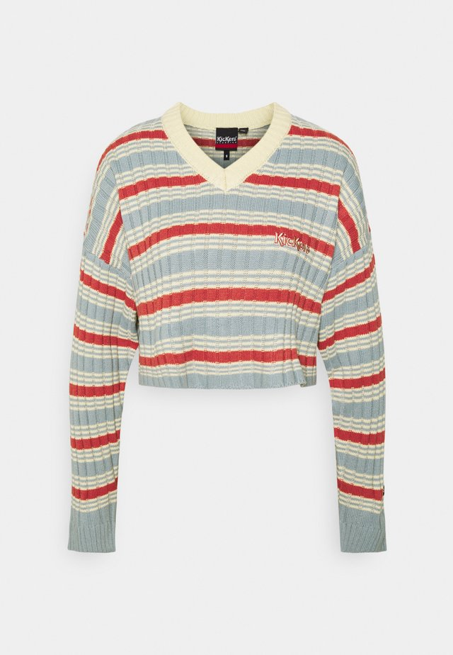 V NECK STRIPE JUMPER - Stickad tröja - multi-coloured
