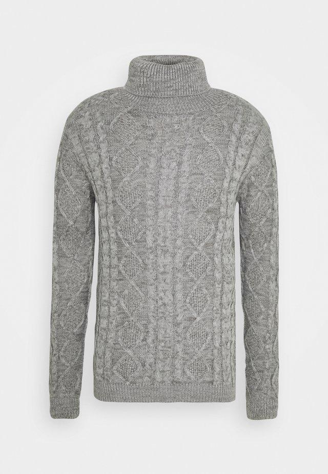 TIMBER - Strikkegenser - light grey melange