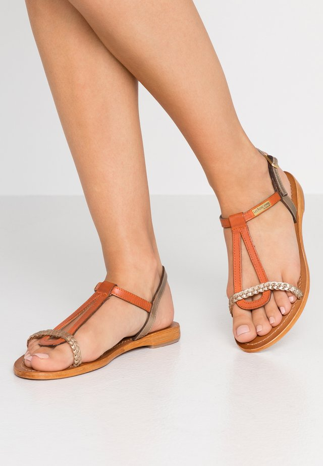 HATRESS - Sandals - orange/or