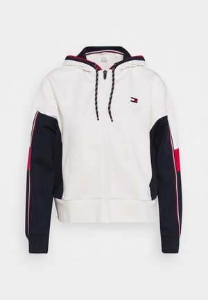 COLORBLOCKED FULL ZIP HOODY - Zip-up hoodie - ivory