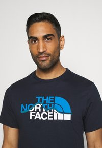 The North Face - MOUNTAIN LINE TEE - T-shirt med print - aviator navy - 3