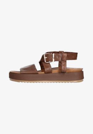 Platform sandals - dunkelbraun