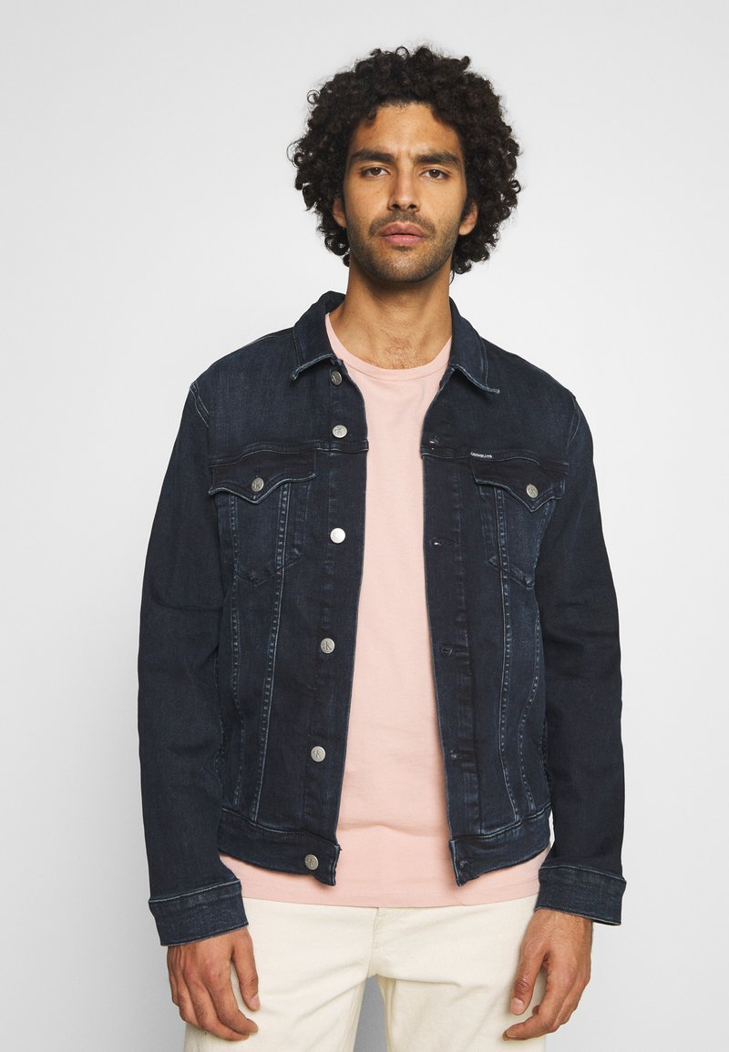 Calvin Klein Jeans - FOUNDATION DENIM JACKET - Kurtka jeansowa - blue black