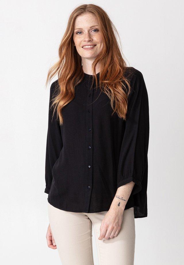 RIVERA - Button-down blouse - black