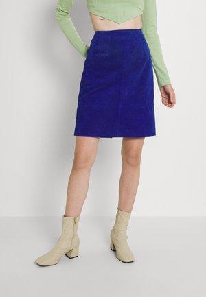 VIFAITH NEW SKIRT - Jupe en cuir - mazarine blue