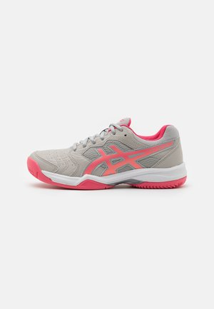 GEL-DEDICATE 6 CLAY - Clay court tennis shoes - oyster grey/pink cameo