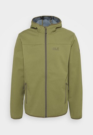 Soft shell jacket - light moss
