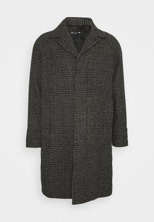 HOPSACK - Classic coat - black/grey