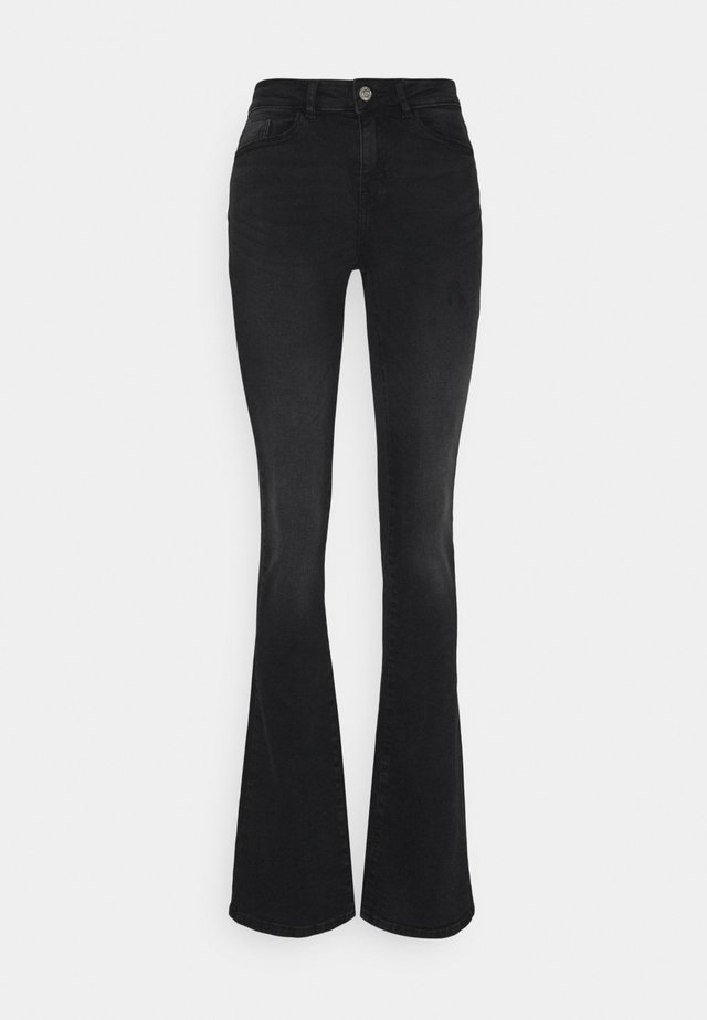 NMMARLI - Flared Jeans - black