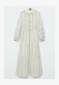 Massimo Dutti - STREIFEN - Maxi dress - white - 3