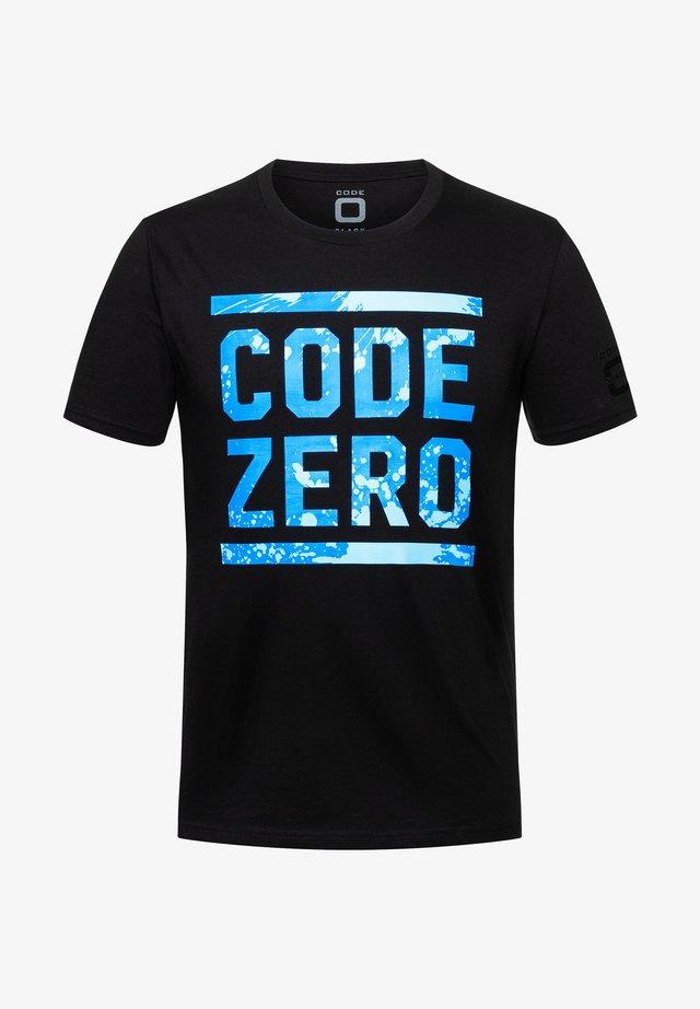 OCEAN  - Print T-shirt - black