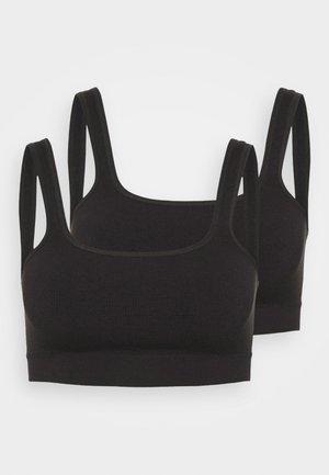 IMOGEN SQUARE NECK SEAMLESS BRALETTE 2 PACK - Bustier - black/black