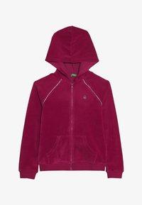 Benetton - JACKET HOOD - Zip-up hoodie - pink - 3