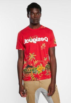 CARPO - Print T-shirt - red
