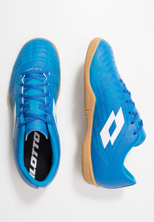 SOLISTA 700 III ID - Indoor football boots - diva blue/all white/skydiver blue