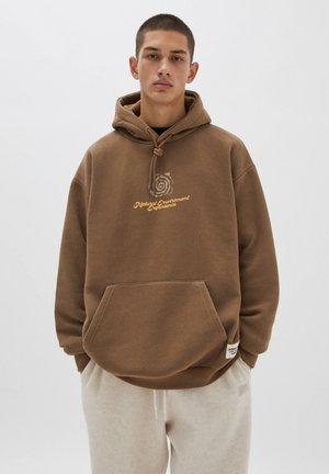 Hoodie - mottled light brown