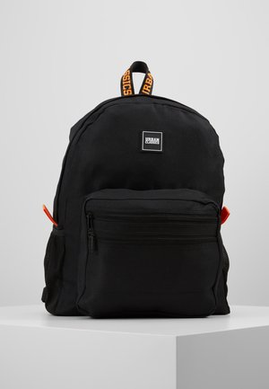 BASIC BACKPACK - Reppu - black/orange