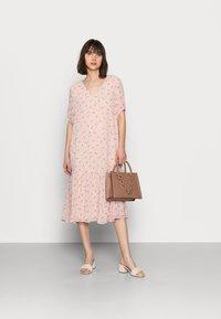 Selected Femme - SLFSINA MIDI DRESS - Day dress - sandshell - 1