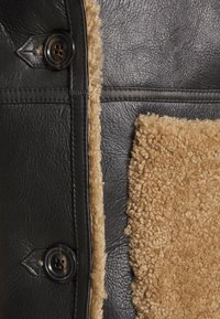 STUDIO ID - KATHERINE CONTRAST POCKET COAT  - Leather jacket - black/cream - 7
