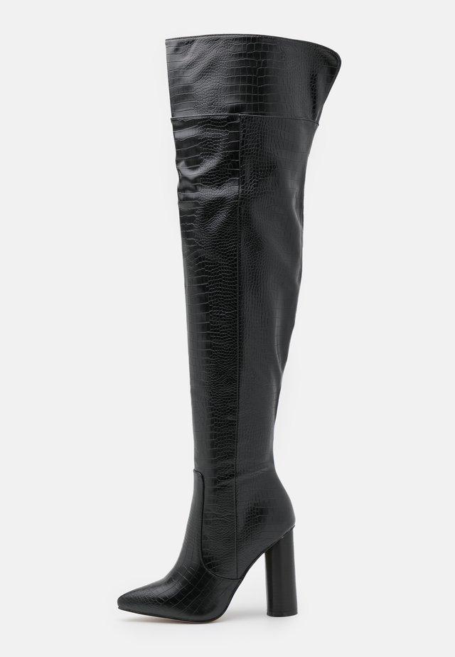 TOFINO - Overknee laarzen - black