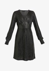 Vero Moda - VMDARLING SHORT DRESS - Jerseykjole - black/silver - 3