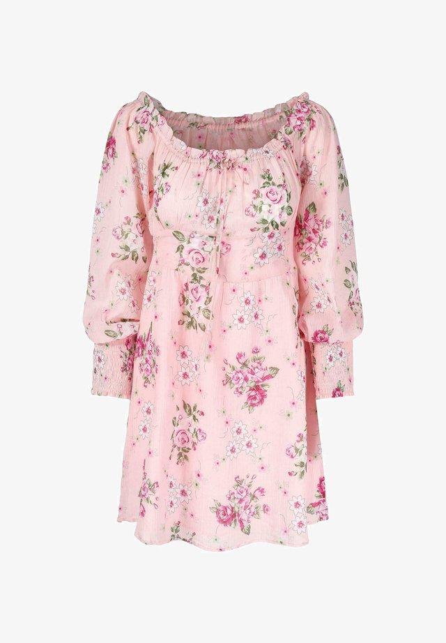 Kjole - pink flower