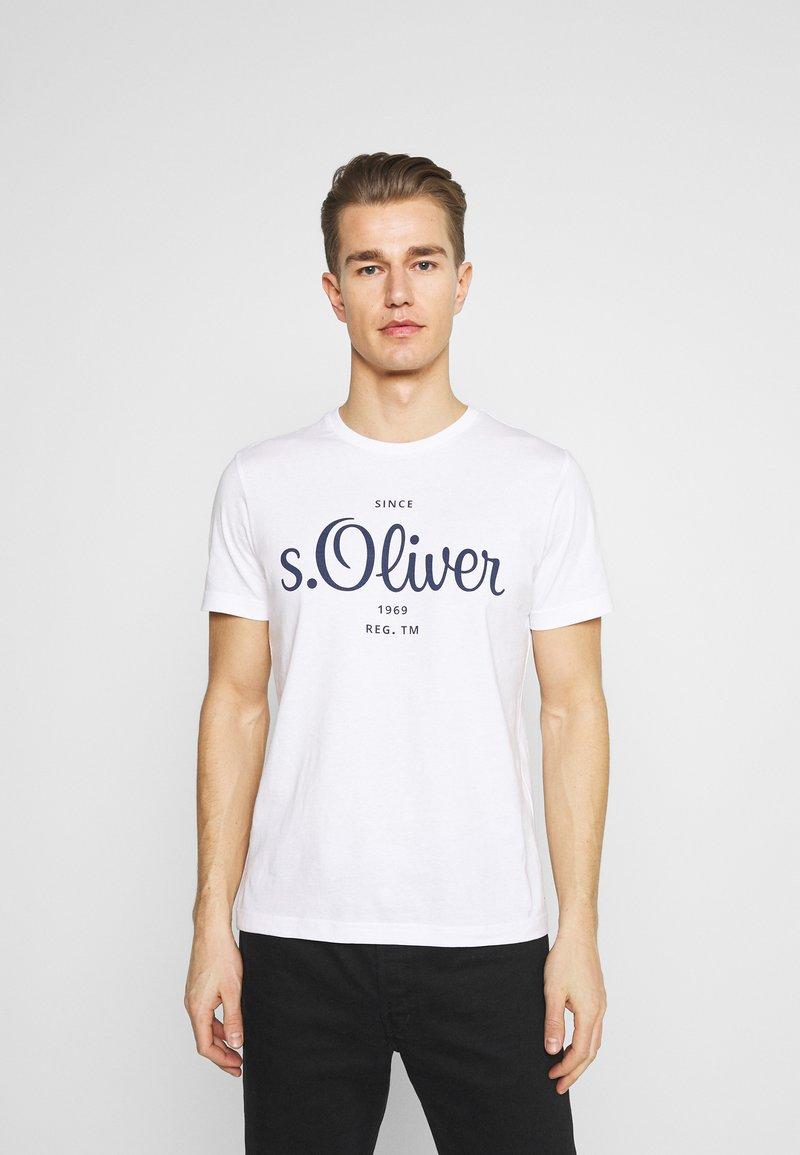 s.Oliver - Print T-shirt - white