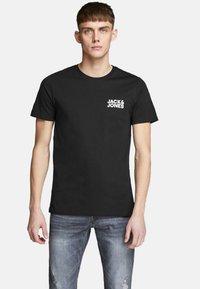 Jack & Jones - JJECORP LOGO TEE O-NECK - T-shirt con stampa - black - 0