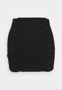 Miss Selfridge - PLAIN RUCHED MINI SKIRT - Mini skirt - black - 1