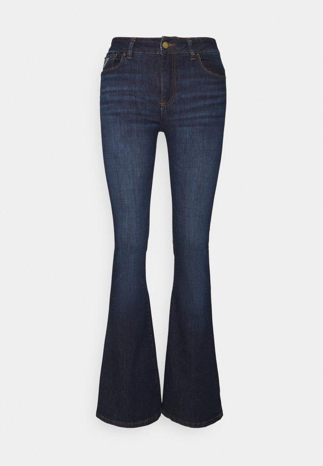 RAVAL - Flared jeans - dark blue denim