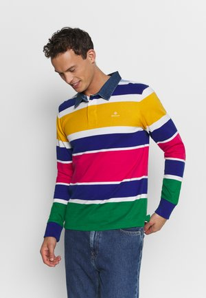 MULTI STRIPE HEAVY RUGGER - Polo shirt - multicolor