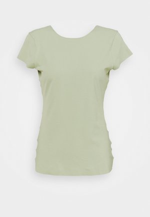INFINALON - Basic T-shirt - celadon/olive aura