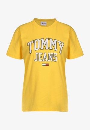 COLLEGIATE LOGO - T-shirt imprimé - yellow