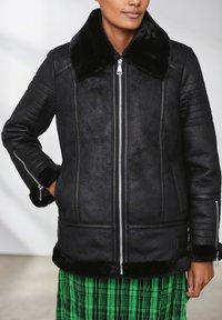 Next - Faux leather jacket - black - 2