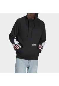 adidas Originals - ADICOLOR TRICOLOR TREFOIL HOODIE UNISEX - Luvtröja - black - 3
