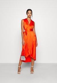 Never Fully Dressed - TANGERINE SLEEVELESS WRAP DRESS - Cocktail dress / Party dress - tangerine - 1