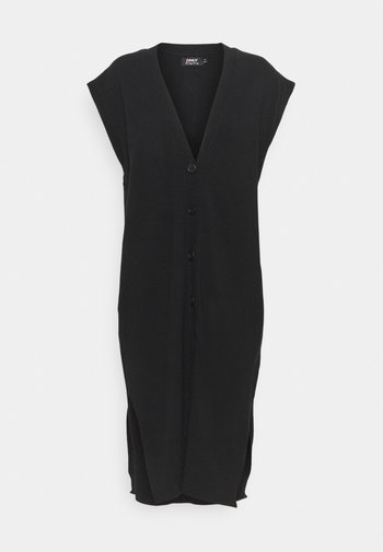 ONLLELY LONG BUTTON  - Waistcoat - black