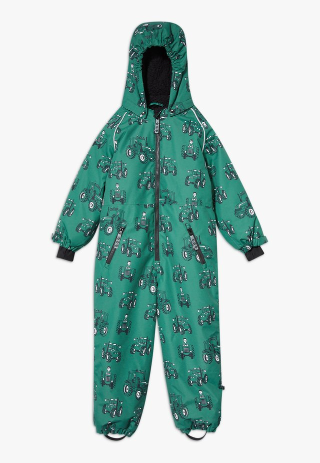 SNOWSUIT ZIPPER TRACTOR - Talvihaalari - hunter green