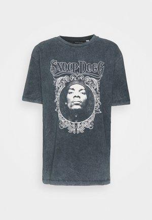 SNOOP DOG FACE - Print T-shirt - black