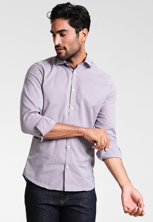 SLHSLIMNEW MARK - Camicia elegante - bright white/red/navy/white